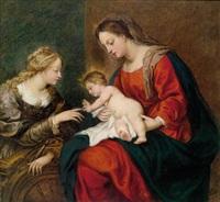 die mystische vermählung der heiligen katharina by sir anthony van dyck