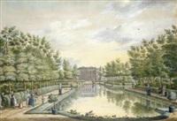brittenrust, near alphen aan de rijn (4 works) by paulus constantijn la (la fargue) fargue