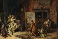 el pintor y la modelo by maximo juderias caballero