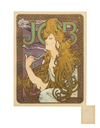 job (plate 202 from les maitres de l'affice) by alphonse mucha