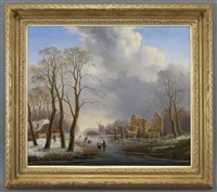 dutch winter landscape by hendrik altmann
