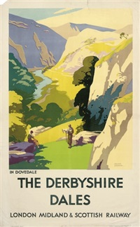 the derbyshire dales (poster) by frank sherwin
