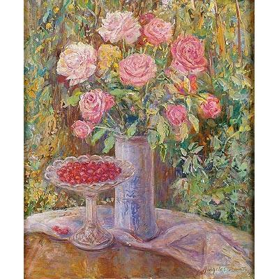 jarrón con flores by ángeles santos