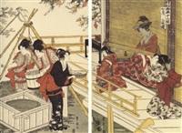 shichigatsu sanmai tsuzuki. le septième mois by utagawa toyohiro