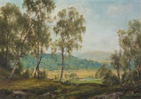 in glen gairn, near ballater, autumn by george melvin rennie