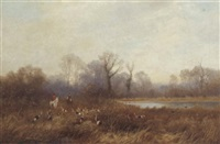 the duck pool, near malvern by john bates noel