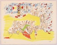 for gog magog, planche 1 by roberto matta