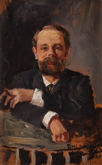 portrait of a man by axel jungstedt