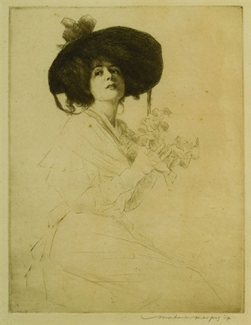c084dcfc16a6e Dante Gabriel Rosetti lady in a black hat 4 others 5 works by ...