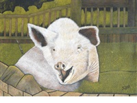 pig in a pen by james lloyd