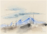 nevada by lyonel feininger