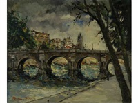 le pont neuf et le quai conti by henri stenn
