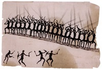one of the murray river tribe's war dance before the fight by tommy mcrae