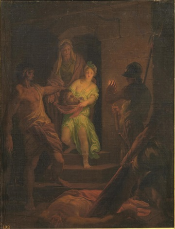 salome riceve la testa del battista by domenico corvi