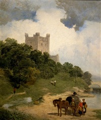 a lochside castel by james peel