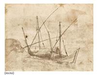 bateaux amarrés (+ figure, verso) by claude lorrain