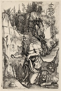 heiliger hieronymus in der wüste (after dürer) by hieronymus hopfer
