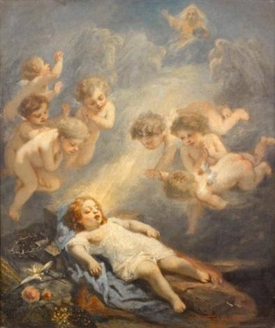 le rêve de lenfant jésus by nicolas françois octave tassaert