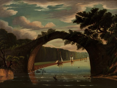 bridge of doon brig odoon south ayrshire england by thomas chambers