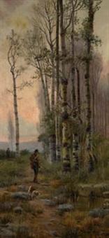 paisaje con cazadores by aurelio tolosa alsina