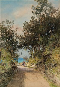 along the paget road, bermuda by prosper louis senat