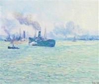 le port de rotterdam by maximilien luce
