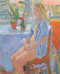 seated female by bo hilton