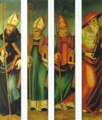 los cuatro padres de la iglesia: san jerónimo, san gregorio, san agustín y san ambrosio by nicolás borrás