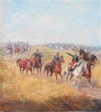 1er septembre, le général margueritte blessé by paul emile léon perboyre