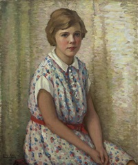 portrait of a young girl by anna lee stacey