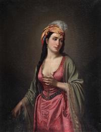 oryantal portre by sandor alexander svoboda