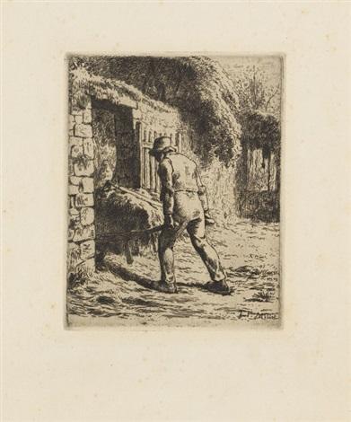 le paysan rentrant du foin by jean françois millet