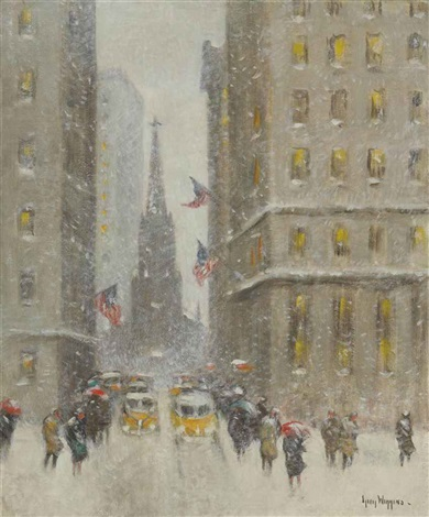 old trinity in winter by guy carleton wiggins