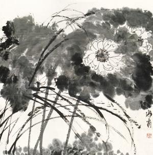 荷花 (lotus) by liu haisu