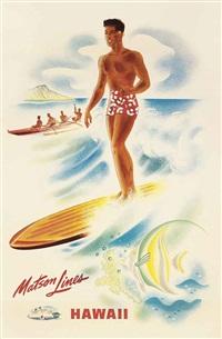 hawaii, matson lines by frank macintosh