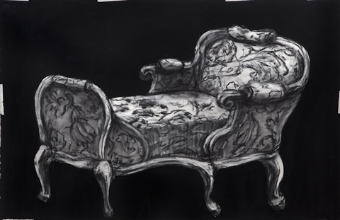 chaise from zeno writing by william kentridge