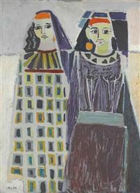deux femmes égyptiennes by hamed abdallah