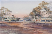 moonrise at moora by kenneth william david jack