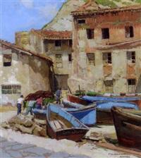 dans le vieux port de guéthary by francois maurice roganeau