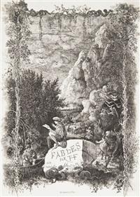 frontispice pour fables et contes par hippolyte de thierry-faletans by rodolphe bresdin