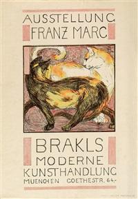 zwei katzen by franz marc