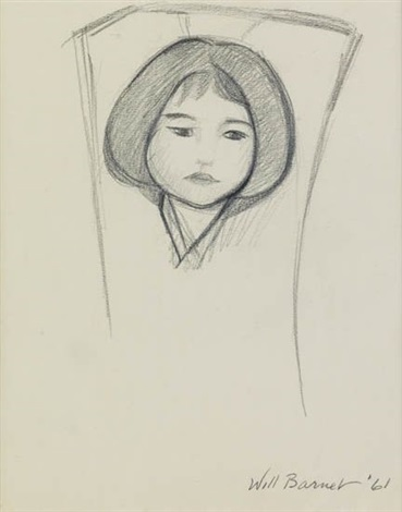 study for mother and child by will barnet