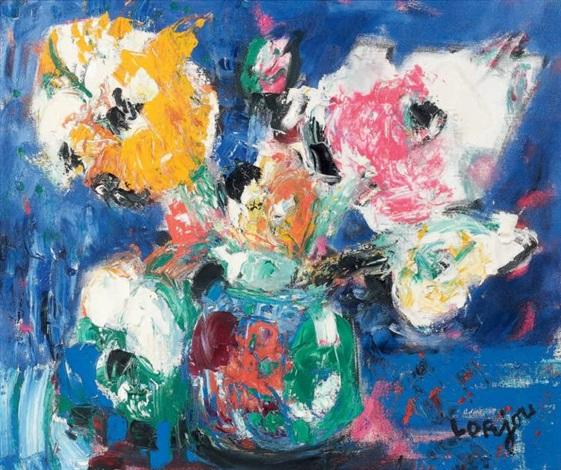 bouquet dans un vase by bernard lorjou