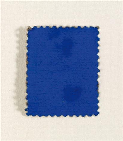 timbre bleu by yves klein
