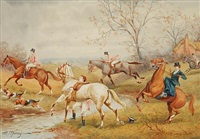 four hunting scenes by h. murray