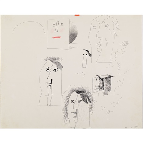untitled from picassoid picassos series of drawings by david hockney