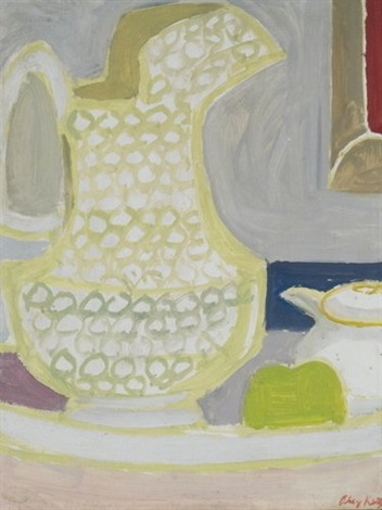 still life with pitcher by alex katz