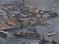 botes en el puerto by willy marchand
