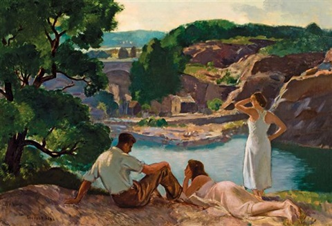 abandoned quarry by gifford beal