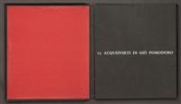 mappenwerk 15 acqueforti di giò pomodoro (portfolio of 15 w/text) by giò pomodoro